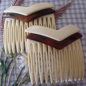 Vintage French Hair Combs
